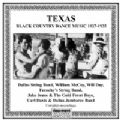 Texas Black Country Dance Music 1927 - 1935