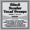 Black Vocal Secular Groups Vol 3 1923 - 1940