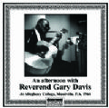 An Afternoon with Reverend Gary Davis