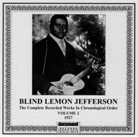 Blind Lemon Jefferson Vol 2 1927
