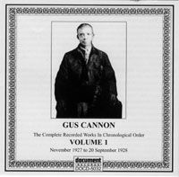 Gus Cannon Vol 1 1927 - 1928