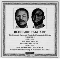 Blind Joe Taggart Vol 2 1929 - 1934