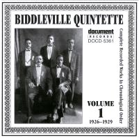 Biddleville Quintette Vol 1 1926 - 1929