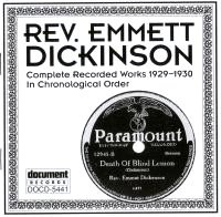 Rev Emmett Dickinson 1929 - 1930