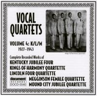 Vocal Quartets Vol 4 K/L/M 1927 - 1943