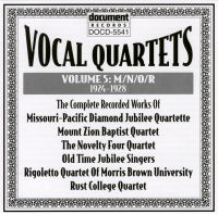 Vocal Quartets Vol 5 M/N/O/R 1924 - 1928