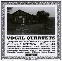Vocal Quartets Vol 7 S/T/V/W 1925 - 1943