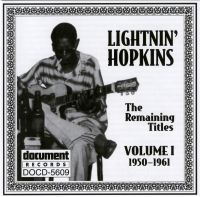 Lightnin' Hopkins 1950 - 1960