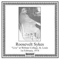 Roosevelt Sykes Live At Webster College St Louis 1974